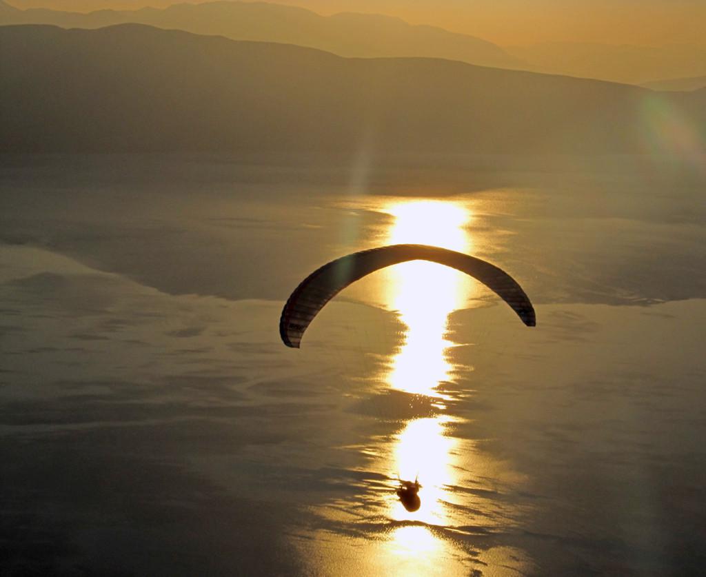 Naplemente az Ohridi tónál